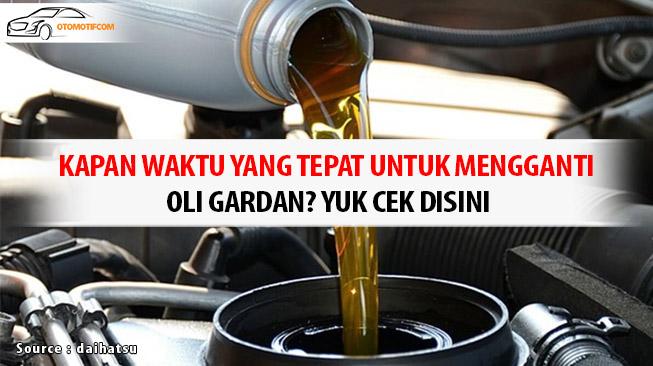 Tips Mengganti Oli Gardan